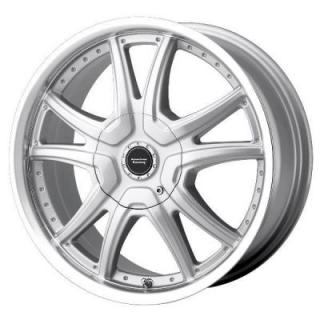 SPECIAL BUY WHEELS  AMERICAN RACING AR607 ALERT SILVER RIM with MACHINED LIP PPT