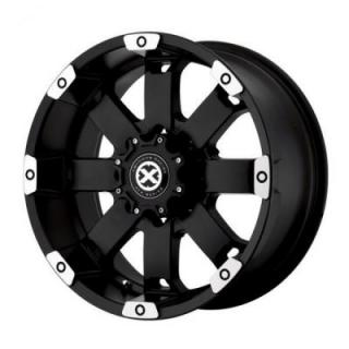 SPECIAL BUY WHEELS  ATX SERIES - AX185 CRAWL MATTE BLACK MACHINED RIM PPT