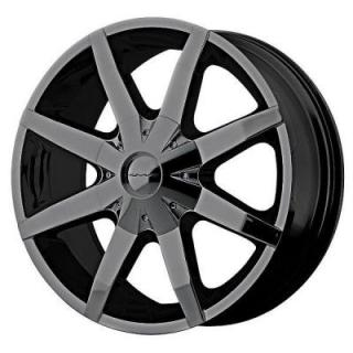 SPECIAL BUY WHEELS  KM650 SLIDE GLOSS BLACK PPT
