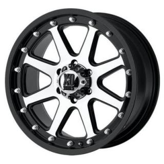 SPECIAL BUY WHEELS  XD SERIES WHEELS XD798 ADDICT MATTE BLACK RIM with MACHINED FACE PPT