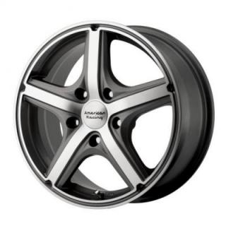 SPECIAL BUY WHEELS  AMERICAN RACING AR883 MAVERICK ANTHRACITE RIM with MACHINED FACE PPT