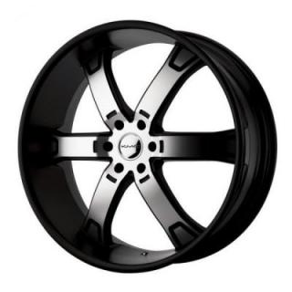 SPECIAL BUY WHEELS  KMC KM671 BRODIE BLACK RIM with MACHINED FACE PPT