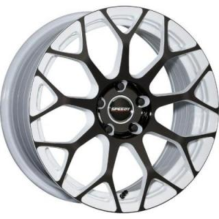 SPEEDY WHEELS  WILDCAT WHITE/BLACK