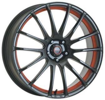 SPEEDY WHEELS  LITE FIN BLACK RIM with RED UNDERSTRIPE