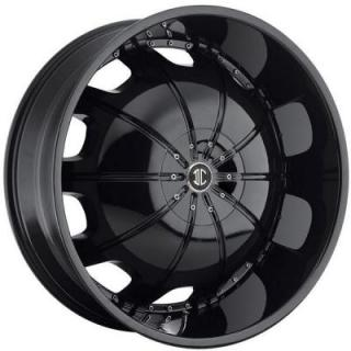 2 CRAVE WHEELS  HEAVY HITTERS H1 GLOSSY BLACK RIM