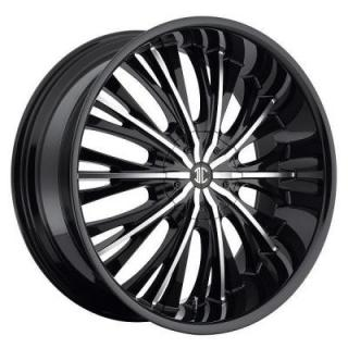 2 CRAVE WHEELS  HEAVY HITTERS H3 BLACK/MACHINED RIM