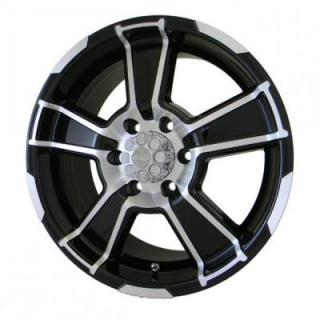 SPECIAL BUY WHEELS  GFX WHEELS - DESERT EAGLE GLOSS BLACK RIM with MACHINED FACE