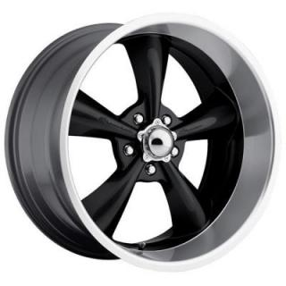 SHOWWHEELS  STREETER BLACK RIM with MACHINED LIP