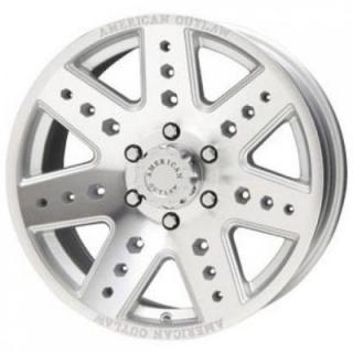 SPECIAL BUY WHEELS  LIQUID METAL APACHE SILVER RIM with MACHINED FACE