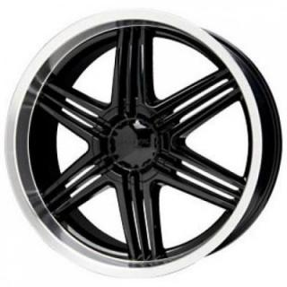 SPECIAL BUY WHEELS  LIQUID METAL - BLADE BLACK RIM with MACHINED LIP