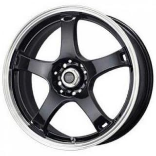SPECIAL BUY WHEELS  LIQUID METAL - DRIFTER BLACK RIM with DIAMOND CUT LIP