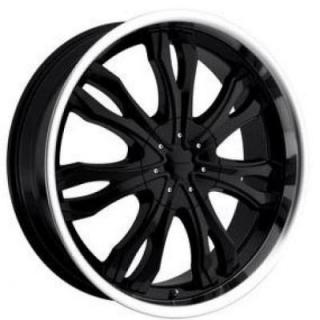 SPECIAL BUY WHEELS  LIQUID METAL - ICE BLACK RIM with MACHINED LIP