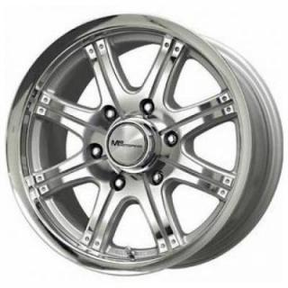 SPECIAL BUY WHEELS  LIQUID METAL - ROCKER SILVER MACHINED RIM