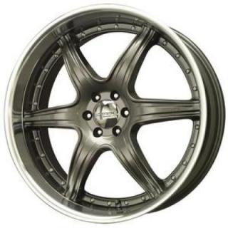 SPECIAL BUY WHEELS  LIQUID METAL - WINGMAN CHARCOAL RIM with MACHINED LIP
