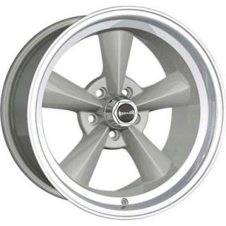 RIDLER WHEELS  STYLE 675 SILVER RIM with MACHINED LIP