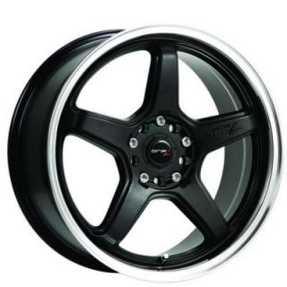 SPECIAL BUY WHEELS  DRIFTZ 304MB CIRCUIT BLACK RIM with MIRROR MACHINED LIP