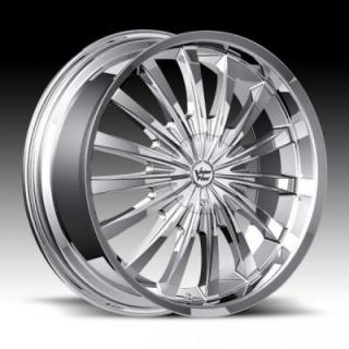 SPECIAL BUY WHEELS  VISION WHEELS - SHATTERED STYLE 454 CHROME PPT