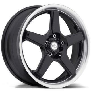 SPECIAL BUY WHEELS  NR5 M120 BLACK/MACHINED