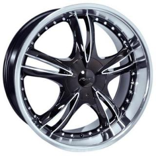 FORTE WHEELS  F59 BLACK NICKEL BLACK RIM with MIRROR FACE