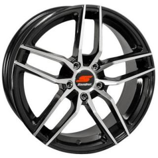 SENDEL WHEELS  S26 BLACK RIM with MACHINED FACE
