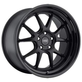 CSL-5.5 MATTE BLACK RIM with GLOSS BLACK LIP by CONCEPT ONE WHEELS