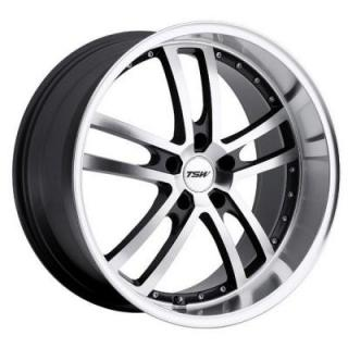 TSW WHEELS - OCT. SALE!  CADWELL GUNMETAL RIM with MIRROR CUT FACE and LIP