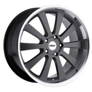 TSW WHEELS  LONDRINA GUNMETAL RIM with MIRROR CUT LIP