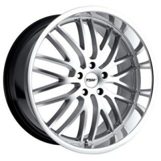 TSW WHEELS  SNETTERTON HYPER SILVER RIM with MIRROR CUT LIP
