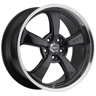MICKEY THOMPSON WHEELS  STREET COMP SC-5 GLOSS BLACK RIM with MIRROR MACHINED LIP