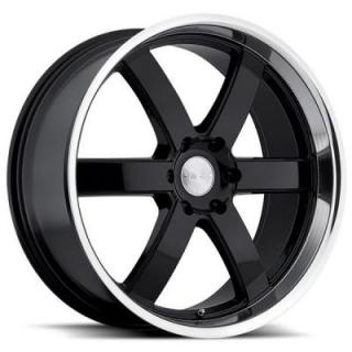 PONDORA GLOSS BLACK RIM with MACHINED CUT LIP from BLACK RHINO WHEELS