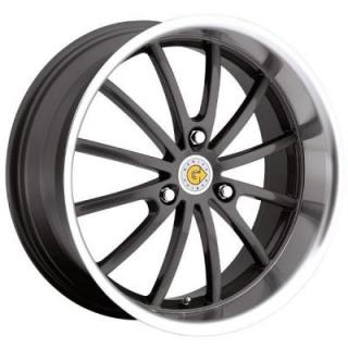 DARWIN GUNMETAL RIM with MIRROR CUT LIP by GENIUS WHEELS