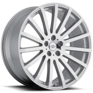 REDBOURNE WHEELS   DOMINUS SILVER RIM with MIRROR CUT FACE