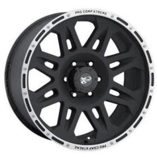 SERIES 7105 FLAT BLACK RIM with MACHINED LIP by PRO COMP ALLOYS WHEELS