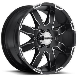 ULTRA WHEELS  PHANTOM 225 SATIN BLACK RIM with DIAMOND CUT ACCENTS