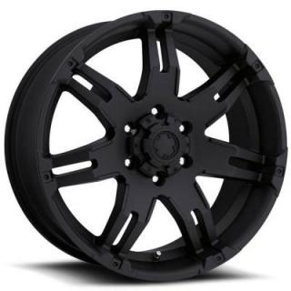 ULTRA WHEELS  GAUNTLET 237/238 MATTE BLACK 6 LUG RIM