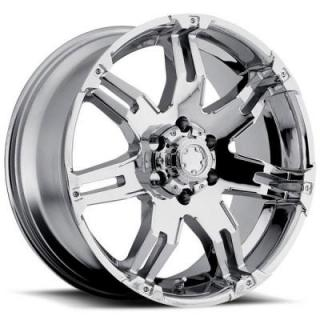ULTRA WHEELS  GAUNTLET 237/238 CHROME 6 LUG RIM