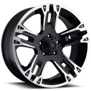 MAVERICK 234/235 BLACK RIM with DIAMOND CUT ACCENTS from ULTRA WHEELS
