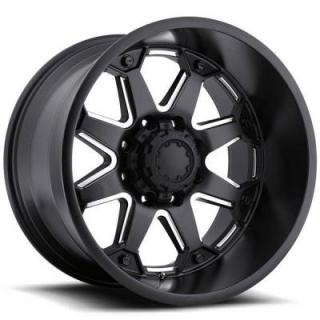 ULTRA WHEELS  BOLT 198 SATIN BLACK RIM with MILLED SPOKES