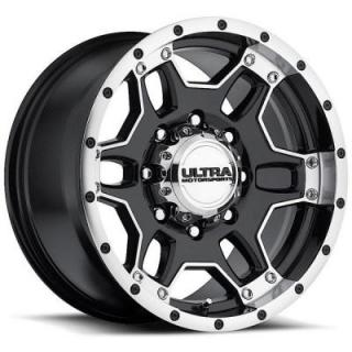 ULTRA WHEELS  MONGOOSE 178 GLOSS BLACK 8 LUG RIM with DIAMOND CUT LIP