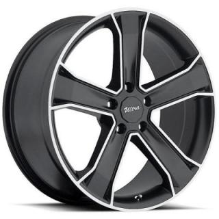 ULTRA WHEELS  MUSCLE KNIGHT 423 GLOSS BLACK RIM with DIAMOND CUT ACCENTS