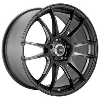 TORCH MATTE BLACK RIM with BALL MILLED ACCENTS from KONIG WHEELS - OCT. SALE!