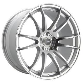 TORCH SILVER RIM with MACHINED FACE and BALL MILLED ACCENTS from KONIG WHEELS