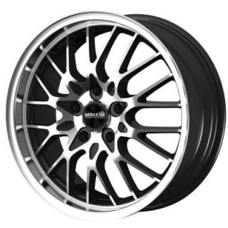 MAXXIM WHEELS  CHANCE GLOSS BLACK RIM with MACHINED FACE and LIP