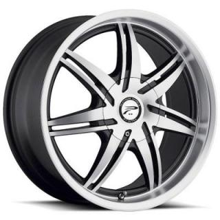 PLATINUM WHEELS  MANTIS 204 DIAMOND CUT FACE RIM with BLACK ACCENTS