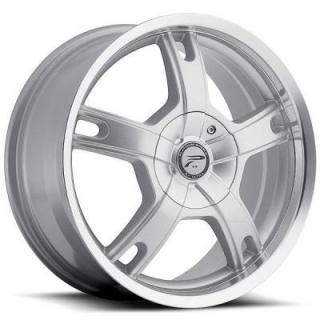 PLATINUM WHEELS  TRACKER 210 SILVER RIM with DIAMOND CUT LIP