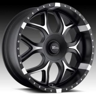 RACELINE WHEELS  153M ODYSSEY BLACK RIM with MACHINED ACCENTS