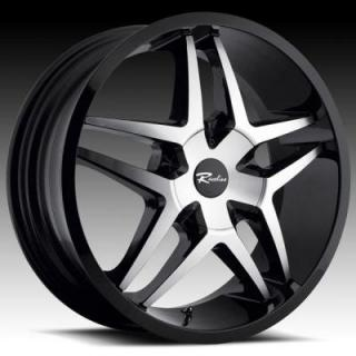 RACELINE WHEELS  194M MONTAGE BLACK RIM with MACHINED FACE