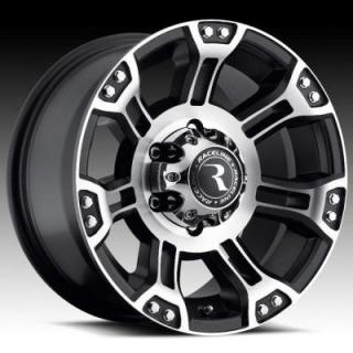 RACELINE WHEELS  903M COMMANDO BLACK RIM with MACHINED FACE