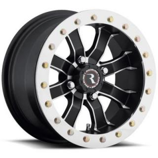 RACELINE WHEELS  A71 RT MAMBA BEADLOCK BLACK RIM with MACHINED LIP