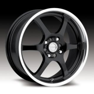 RACELINE WHEELS   126 BLACK RIM with MIRROR LIP
